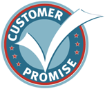 our customer promise small logo